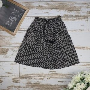 Downeast Women's Small Black and White Skirt